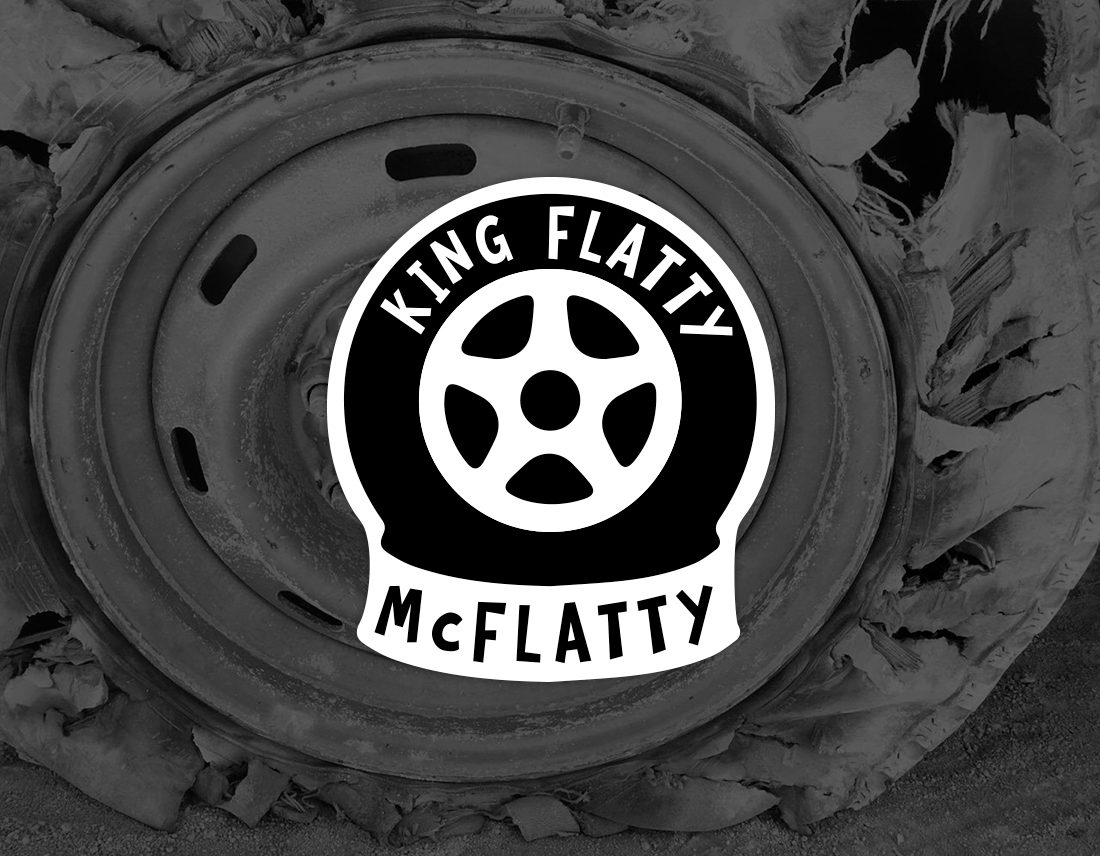 flat tyre logo