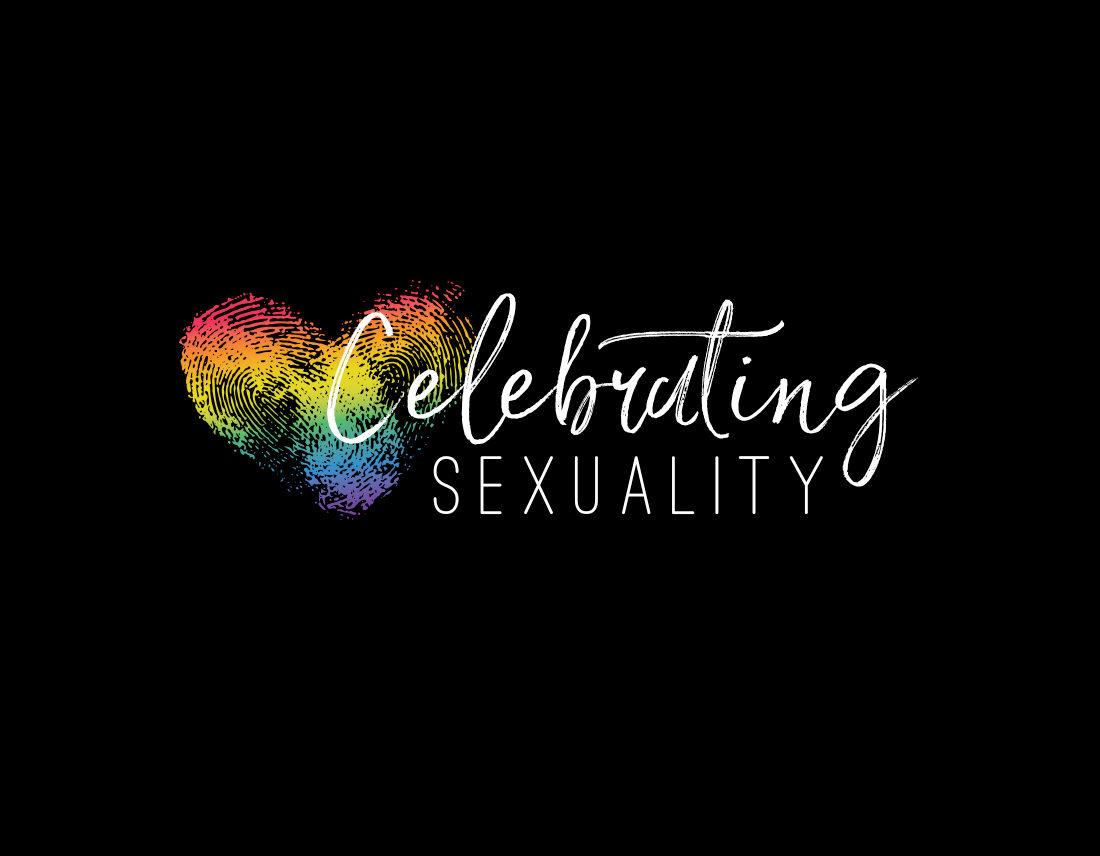 Celebrating Sexuality logo on black background