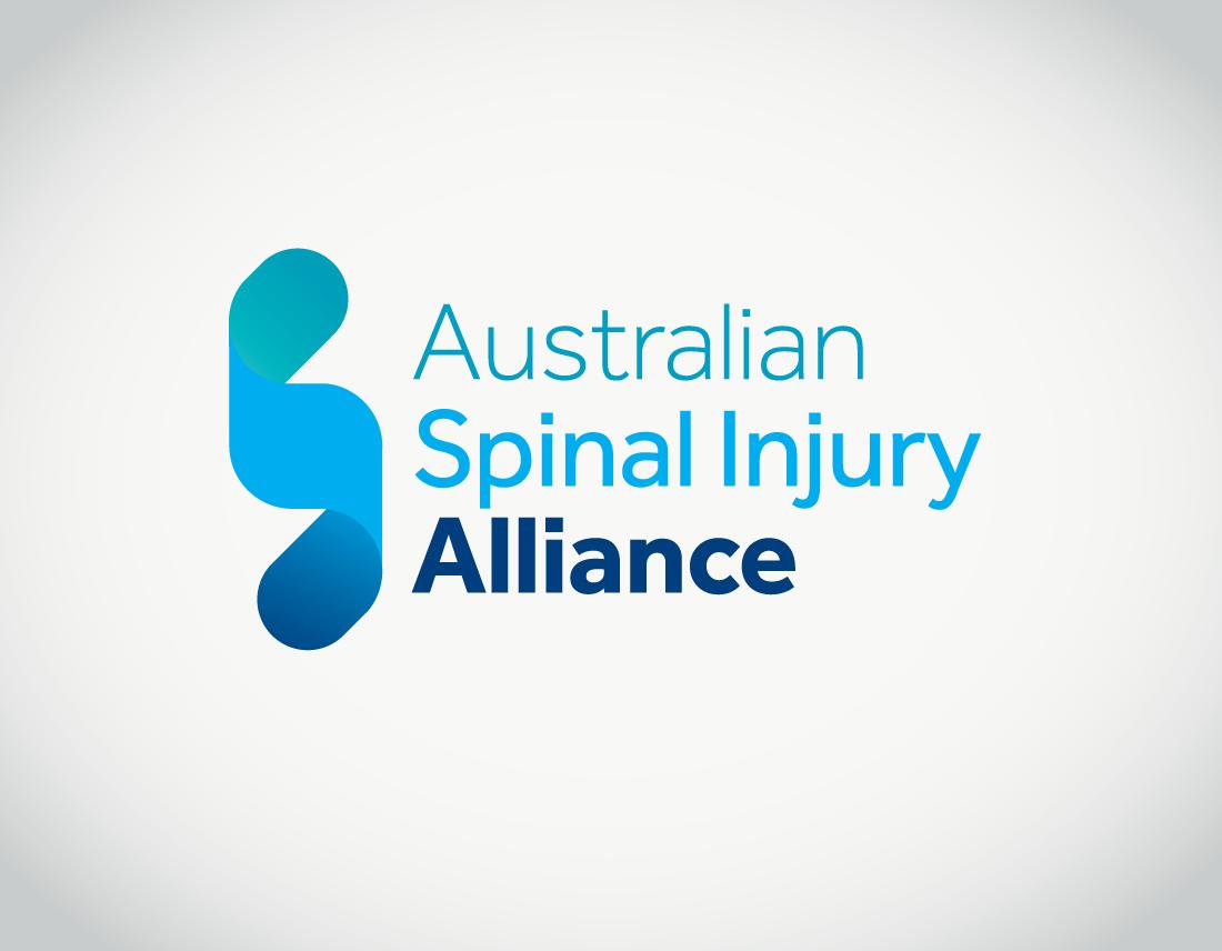 Australian Spinal Injury Alliance logo on grey background